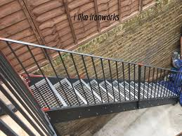 metal staircases and balconies