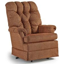 Swivel Glider Chairs by Roni Skirted Swivel Glider Chair By Best Home Furnishings Wolf