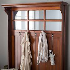Mudroom Hall Tree by Hall Tree With Storage Bench Mirror Coat Rack Cherry For Entryway