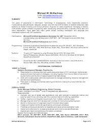 Sample Resume For Software Engineer With 2 Years Experience by Sample Resume For Net Developer With 2 Year Experience Resume