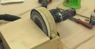 Diy Bench Sander Drill Powered Disc Sander U2013 Izzyswan Com