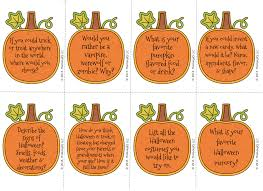 free halloween conversation starters includes 24 cards https