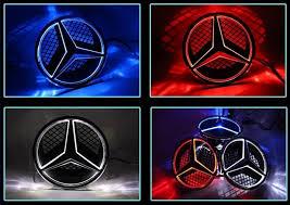 mercedes car emblem front mercedes neon logo