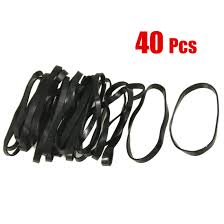 hair elastic new 40 pieces practical black elastic rubber band hair tie
