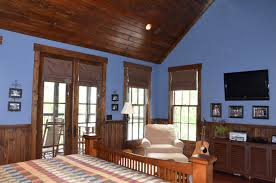 bedroom pictures lake mountain cabin bedroom photos houzz appalachia blue room vaulted ceiling