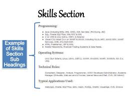 Examples Skills Resume by Writing