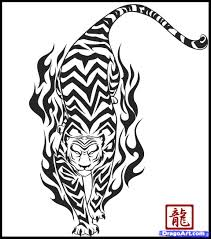 how to draw a tribal tiger by tribal pop culture