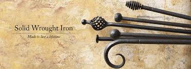 Solid Metal Curtain Rods Wrought Iron Curtain Poles Made To Order
