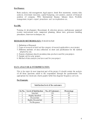 project analysis report template project report format