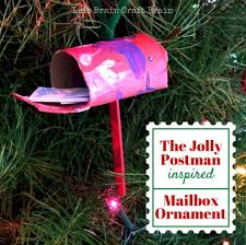 the jolly postman mailbox ornament left brain craft brain