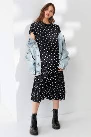 travel dresses images Urban outfitters polka dot peplum midi t shirt dress best travel jpg