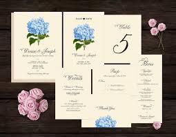 affordable wedding programs botanical wedding invitation set printable diy invite affordable