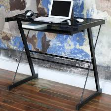 Metal And Glass Computer Desks Black Metal Glass Computer Desk Free Shipping Today Overstock