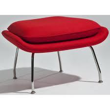 newark lounge chair with ottoman red aeon furniture modern