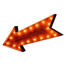 arrow of light decorations iconics arrow marquee light hayneedle