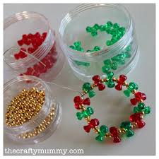 beaded wreath tutorial u2022 the crafty mummy