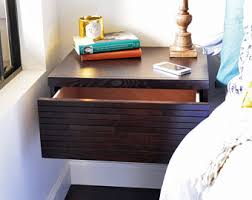 Wall Mount Nightstand Two Modern Hanging Floating Wall Mount Nightstand Drawers