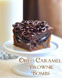 oreo caramel brownie bombs recipe oreo oreos and brownies