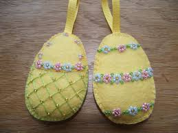 felt easter eggs easter egg ornaments felt easter decorations embroidery