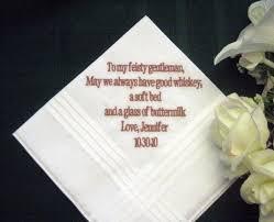 wedding gift groom personalized wedding gift wedding handkerchief from to