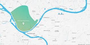 Pittsburgh Zip Code Map by Scott Dombkowski