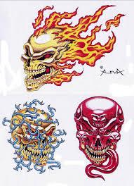 free printable skull designs cool tattoos bonbaden