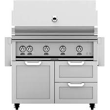 hestan 42 inch stainless steel freestanding natural gas grill with