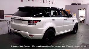 black chrome range rover 2014 range rover sport wrapped in satin pearl white by dbx