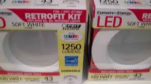 costco led can lights feit electric led retrofit kit and br40 review youtube