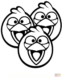 angry birds blue bird coloring pages printable coloring sheets