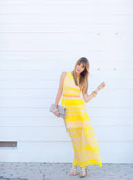 french connection yellow stripe dress u2013 a house in the hills