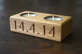 personalised wooden tea light holders make me something special
