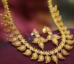 ethnic gold necklace images Nl2393 ruby white mango indian traditional gold design broad JPG