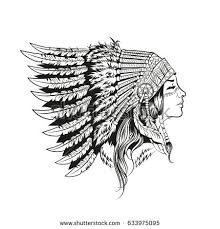 american indian national headdress stock vector 633975095