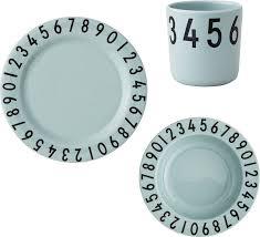 geschirr design design letters kinder geschirr geschenk set numbers kleine fabriek