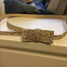 gold bow belt 49 kate spade accessories kate spade gold glitter bow belt