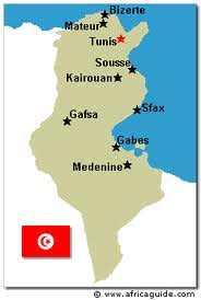 map of tunisia with cities africa2010a tunisiasydney