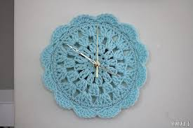 crochet pattern small clock for your house home decor clock