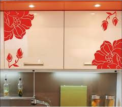 Wall Decals On Kitchen Cabinets  Color The Walls Of Your House - Kitchen cabinet wallpaper