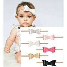 baby headbands uk stretch white baby headband with polka bow free uk delivery