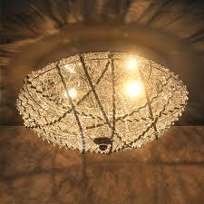 Wohnzimmerlampe Kristall Lux Pro Deckenleuchte Decken Lampe Leuchte Mesh Kristall Chrom