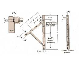 Casement Awning Windows Hinge Large 18 Inch Truth 13 Series