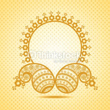 traditional design traditional asian paisley design with copyspace vector art thinkstock