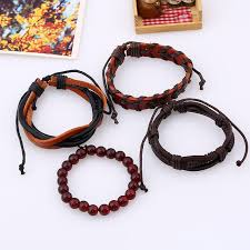 diy bracelet men images Online shop retro suit bracelet diy braided cowhide bracelet men 39 s jpg