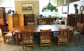 60 Inch Dining Room Table Voorhees Craftsman Mission Oak Furniture Original Vintage Gustav