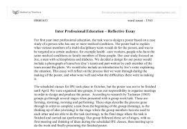 reflective essay assignment sheet template statistics project