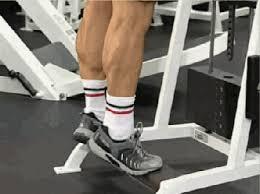 Подьемы на носки в положении стоя