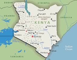 geographical map of kenya facts for kenya