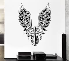 online buy wholesale swing decoration from china wall sticker cross angel wings art vinyl mural home decorative free swing