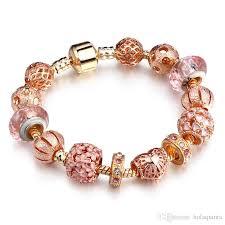 rose bracelet charm images Fashion diy charm pandora bracelets women jewelry rose gold snake jpg